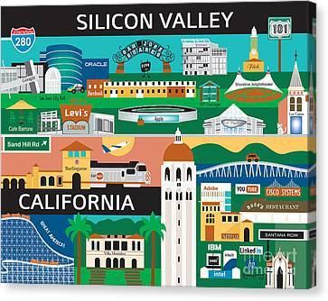 Silicon Valley Canvas Print by Karen Young