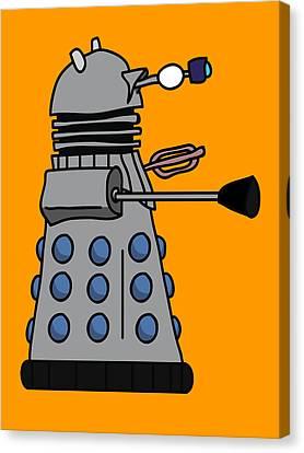 Silly Robot Canvas Print by Jera Sky
