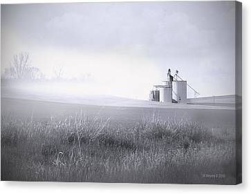 Silo Mist Canvas Print by Melisa Meyers