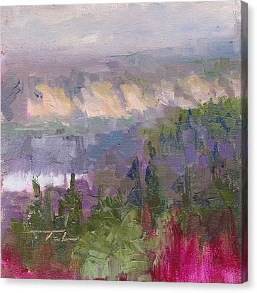 Silver And Gold - Matanuska Canyon Cliffs River Fireweed Canvas Print by Talya Johnson