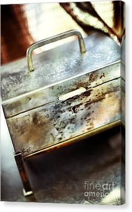 Silver Box Canvas Print by HD Connelly