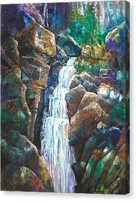 Silver Falls Canvas Print by Patricia Allingham Carlson