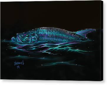 Silver Flash Canvas Print by Yusniel Santos