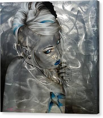 Portrait - 'silver Flight' Canvas Print by Christian Chapman Art