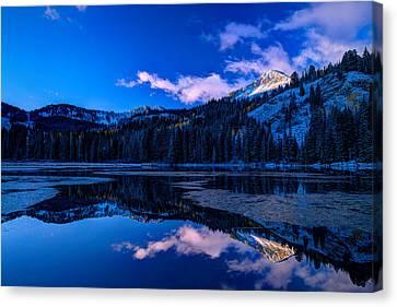 Silver Lake Canvas Print by Dustin  LeFevre