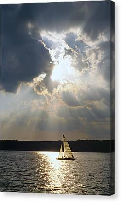 Silver Lining - Lake Geneva Wisconsin Canvas Print by Bruce Thompson