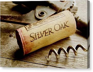 Silver Oak Cork Painting Canvas Print by Jon Neidert