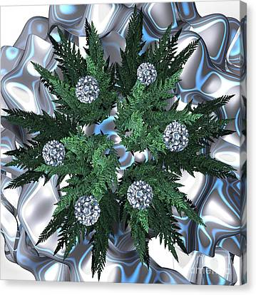 Silver Snow Wreath By Jammer Canvas Print by First Star Art