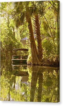 Silver Springs Glass Bottom Boats Canvas Print by Christine Till