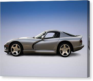 Silver Viper Canvas Print by Douglas Pittman
