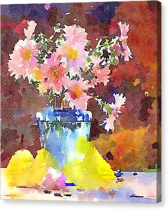 Simple Flowers And Leaves Canvas Print by Yury Malkov