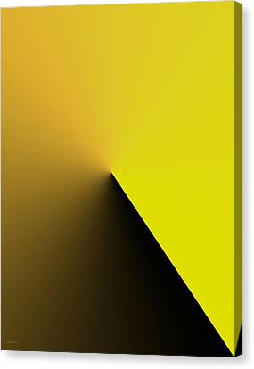 Simple Geometric Solution In Yellow Canvas Print by Mario Perez