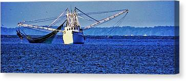 Simple Shrimpboat Canvas Print by Patricia Greer