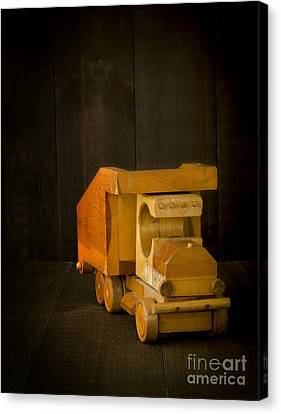 Simpler Times - Old Wooden Toy Truck Canvas Print by Edward Fielding
