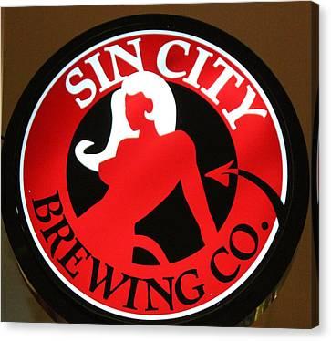 Sin City Brewing  Canvas Print by Cynthia Guinn