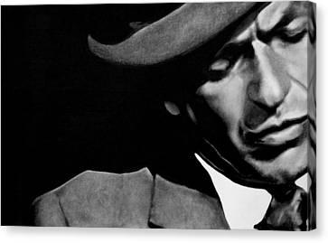 Sinatra B/w Canvas Print by Leon Jimenez