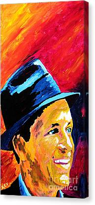 Sinatra My Way Canvas Print by Kevin Rogerson