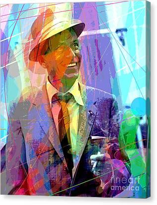 Sinatra Swings Canvas Print by David Lloyd Glover