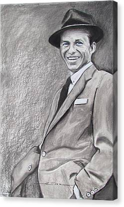 Sinatra - The Voice Canvas Print by Eric Dee
