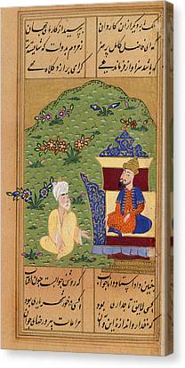 Sinbad Seated Before The King? Canvas Print by British Library