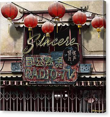 Sincere Radio Tv Canvas Print by Larry Butterworth