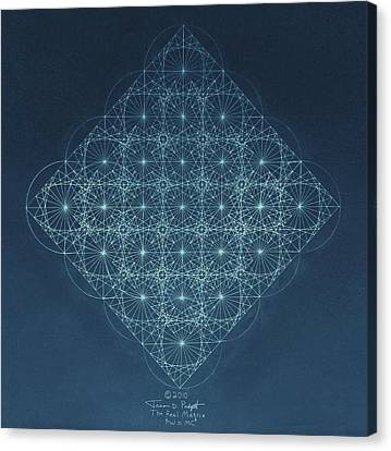 Sine Cosine And Tangent Waves Canvas Print by Jason Padgett