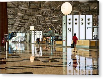 Singapore Changi Airport 03 Canvas Print by Rick Piper Photography