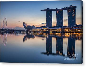 Singapore Skyline Canvas Print by Colin and Linda McKie