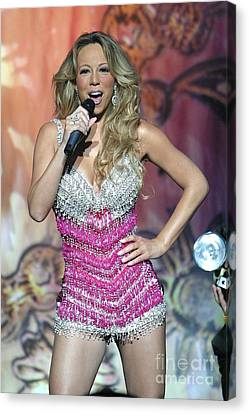 Singer Mariah Carey Canvas Print by Concert Photos
