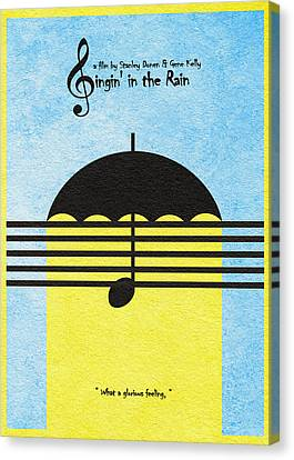 Singin' In The Rain Canvas Print by Ayse Deniz