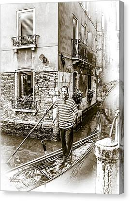 Singing Gondolier Canvas Print by Julie Palencia