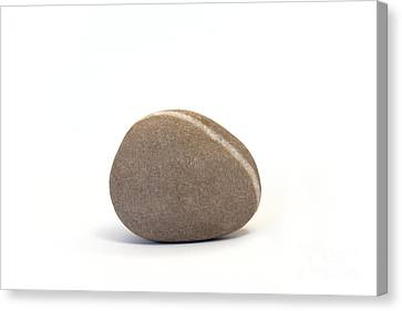 Single Pebble Against White Background Canvas Print by Natalie Kinnear