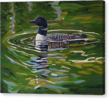 Singleton Loon Canvas Print by Phil Chadwick