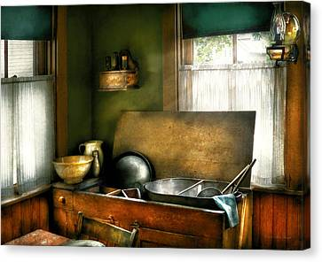 Sink - The Kitchen Sink Canvas Print by Mike Savad