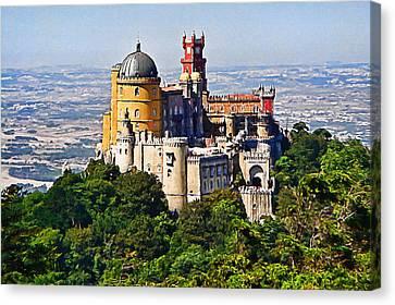 Sintra Pena Palace  Portugal Canvas Print by Jaime Alves