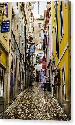 Sintra Street Canvas Print by Deborah Smolinske