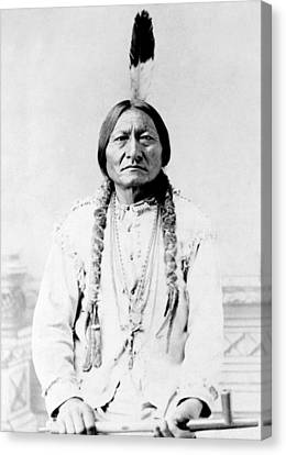 Sioux Chief Sitting Bull Canvas Print by War Is Hell Store