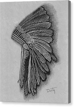 Sioux Indian Headdress Canvas Print by Dusty Reed