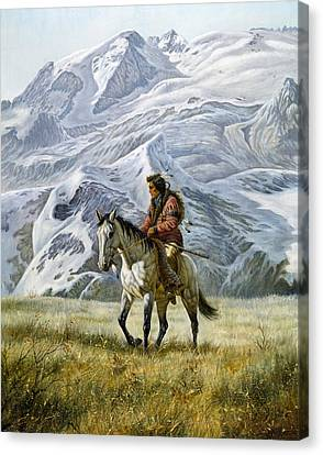 Sioux Scout Canvas Print by Gregory Perillo