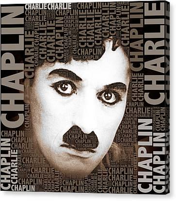 Sir Charles Spencer Charlie Chaplin Square Canvas Print by Tony Rubino