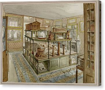 Sir John Soane's Museum Canvas Print by British Library
