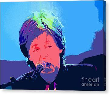 Sir Paul Pop Art Canvas Print by Tina M Wenger