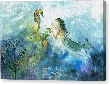 Siren Of The Sea Canvas Print by Nancy Gorr