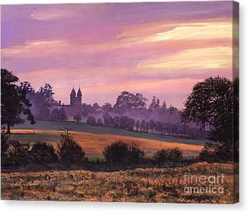 Sissinghurst Castle Sunset Canvas Print by David Lloyd Glover