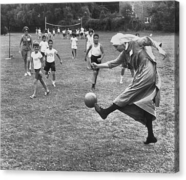 Sister Boots The Ball Canvas Print by Underwood Archives