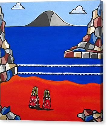 Sister Talk Canvas Print by Sandra Marie Adams