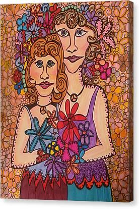 Sisters Of Peace  Canvas Print by Gerri Rowan