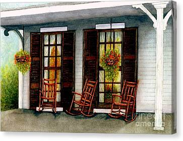 Sit A Spell  Canvas Print by Janine Riley