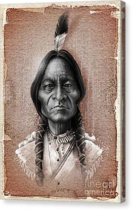 Sitting Bull Canvas Print by Andre Koekemoer