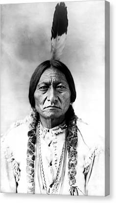 Sitting Bull Canvas Print by Bill Cannon